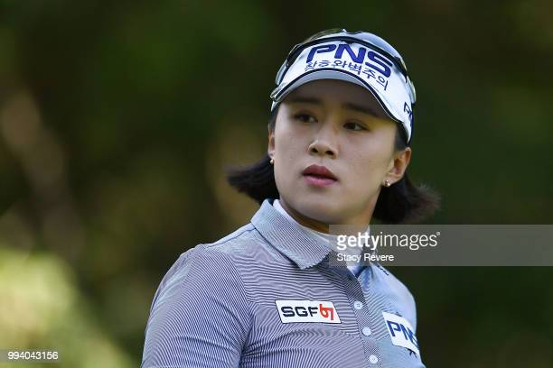 Amy Yang of Korea walks of the third tee during the final round of the Thornberry Creek LPGA Classic at Thornberry Creek at Oneida on July 8 2018 in...