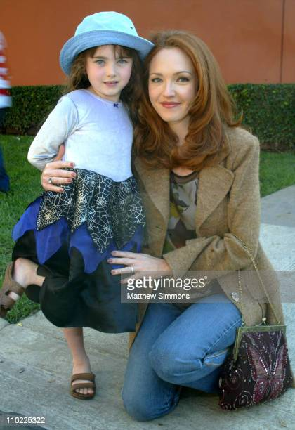 Amy Yasbeck and daughter Stella during Halloween Screening of 'The Incredibles' to Benefit the Diabetes Research Institute at Walt Disney Studios in...