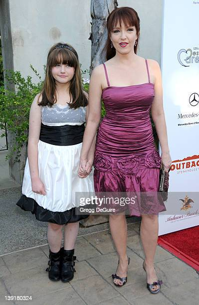 Amy Yasbeck and daughter Stella Ritter arrive at the HollyRod Foundation's 12th Annual Design Care at Ron Burkle's Green Acres Estate on July 24,...