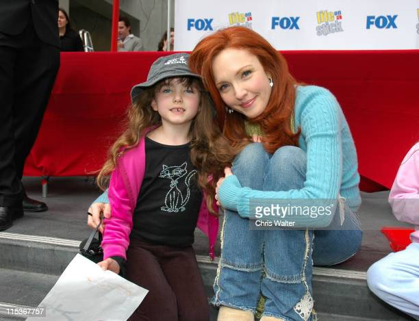 """Amy Yasbeck and daughter Stella Ritter during """"Life on a Stick"""" - Veggie Dog Eating Contest at Hollywood & Highland Center in Hollywood, California,..."""