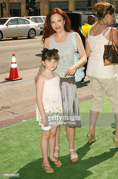 Amy Yasbeck and daughter Stella Ritter during The Ant Bully Los Angeles Premiere Arrivals at Grauman's Chinese Theater in Hollywood California United...