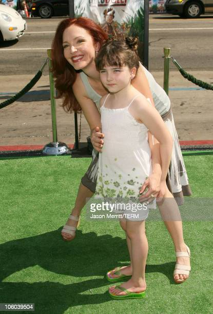Amy Yasbeck and daughter Stella Ritter during 'The Ant Bully' Los Angeles Premiere Arrivals at Grauman's Chinese Theater in Hollywood California...