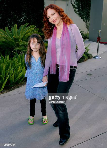 Amy Yasbeck and guest during Yours Mine and Ours Los Angeles Premiere Red Carpet at Cinerama Dome in Hollywood California United States