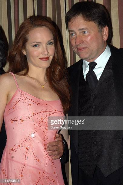 Amy Yasbeck and John Ritter during 2003 Music Center Artist Awards at The Beverly Regent Hotel in Los Angeles California United States