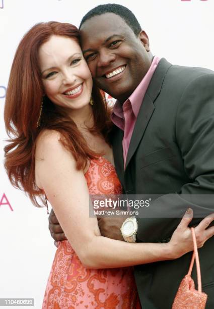 Amy Yasbeck and Rodney Peete during Eighth Annual Hollyrod DesignCure July 22 2006 at Private Residence in Beverly Hills California United States