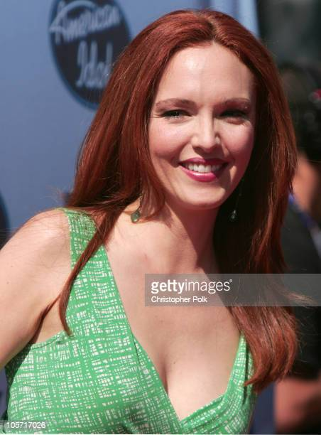 Amy Yasbeck during American Idol Season 4 Finale Arrivals at The Kodak Theatre in Hollywood California United States