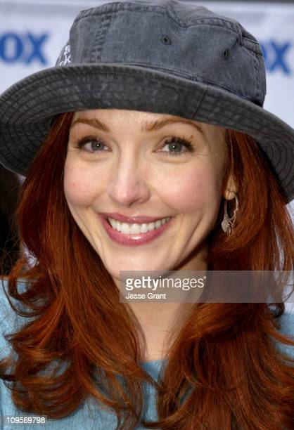 Amy Yasbeck during 'Life on a Stick' Veggie Dog Eating Contest at Hollywood Highland Center in Hollywood California United States