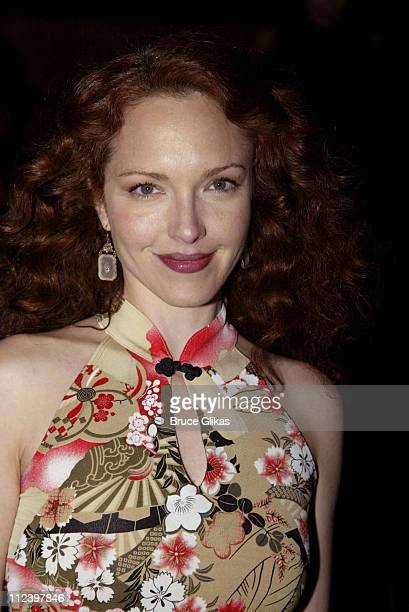 Amy Yasbeck during Play Premiere of Woody Allen's 'Writer's Block' at Atlantic Theater Company in New York City New York United States