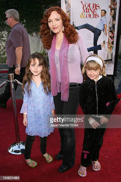 Amy Yasbeck during 'Yours Mine and Ours' Los Angeles Premiere Arrivals at The Cinerama Dome in Hollywood California United States