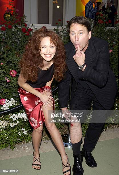 Amy Yasbeck John Ritter during ABC 2002 Summer Press Tour All Star Party at Tournament House in Pasadena California United States