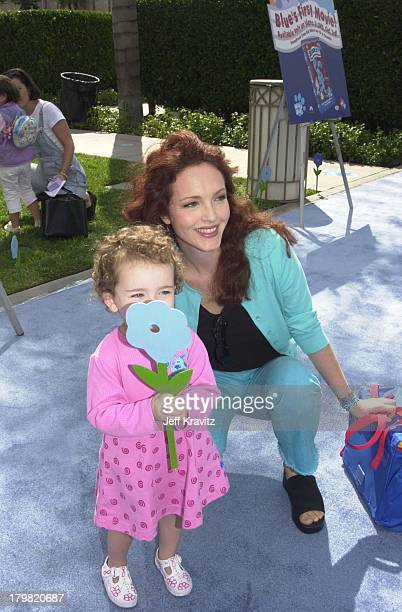 Amy Yasbeck & Stella Ritter during Blue's Big Musical Movie Premiere in Hollywood, California, United States.