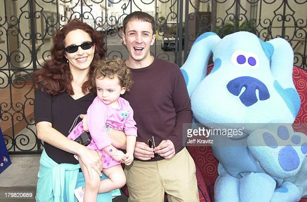 Amy Yasbeck, Stella Ritter, Steve Burns & Blue during Blue's Big Musical Movie Premiere in Hollywood, California, United States.