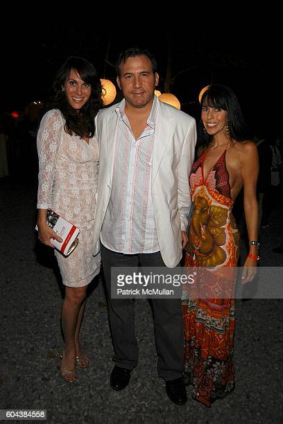 Amy Zakarin Adam Weiss and Wendy attend 2nd Annual Red Cross Ball at Carole and Todd Rome Residence on August 19 2006 in Southampton NY