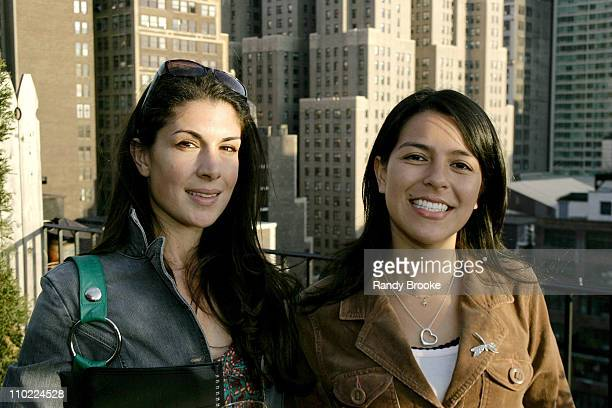 Amy Zalneraits and Virginia Calderon during Frye Fall 2005 Collection Launch Party April 26 2005 at Penthouse 15 in New York New York United States
