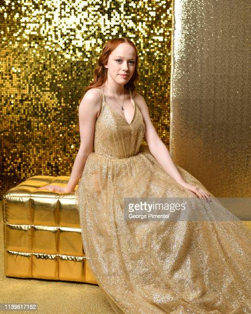 Amybeth McNulty poses inside the 2019 Canadian Screen Awards Portrait Studio held at Sony Centre for the Performing Arts on March 31, 2019 in...