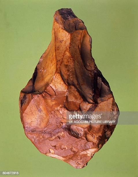 Amygdala biface stone tool Paleolithic Rome Museo Di Paleontologia