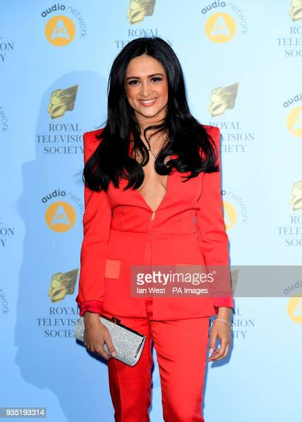 AmyLeigh Hickman attending the Royal Television Society Programme Awards at Grosvenor House Hotel Park Lane London