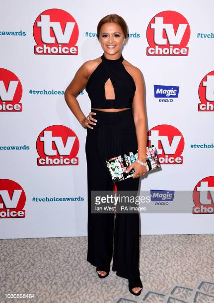 AmyLeigh Hickman attending the TV Choice Awards at the Dorchester Hotel Park Lane London