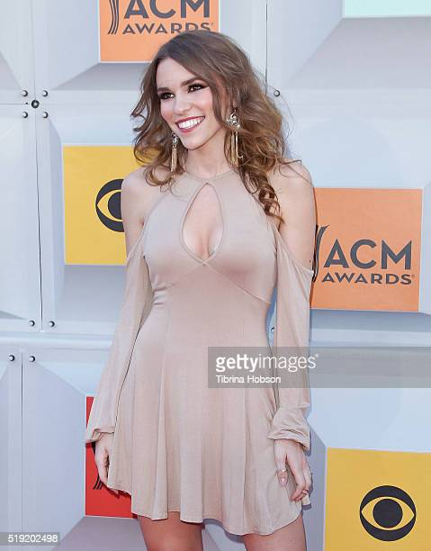 Amymarie Gaertner attends the 51st Academy of Country Music Awards at MGM Grand Garden Arena on April 3 2016 in Las Vegas Nevada
