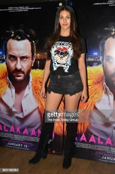 Amyra Dastur during the special screening of Kaalakaandi in Mumbai