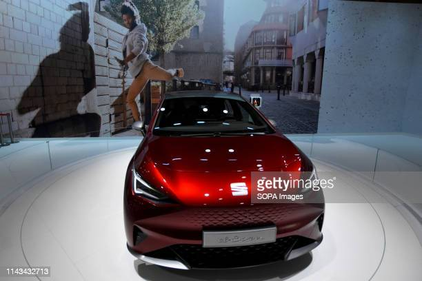 An 100% electric vehicle model El Born of the Spanish automotive brand Seat at the Automobile Trade Fair 2019 in Barcelona