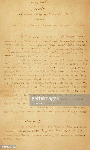 An 1819 treaty between Spain and the United States wherein Spain's Florida territory was ceded to the United States Page 1 of 18