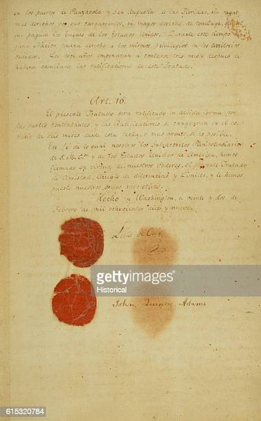 An 1819 treaty between Spain and the United States wherein Spain's Florida territory was ceded to the United States Page 18 of 18 | Located in...