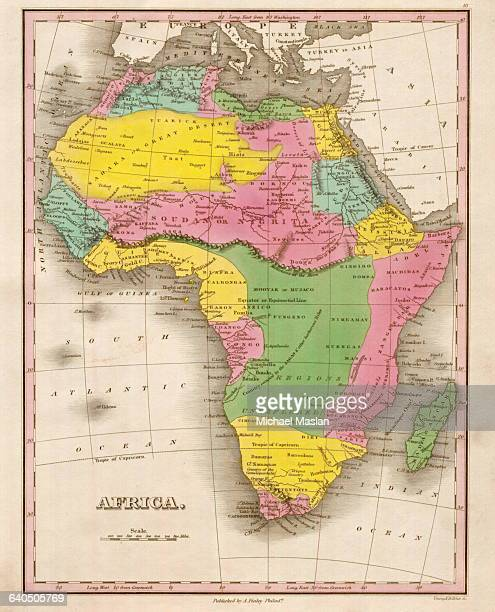 An 1826 map of Africa shows district boundaries and topographical features Included are Egypt Barbary Soudan Colony of Good Hope and other areas