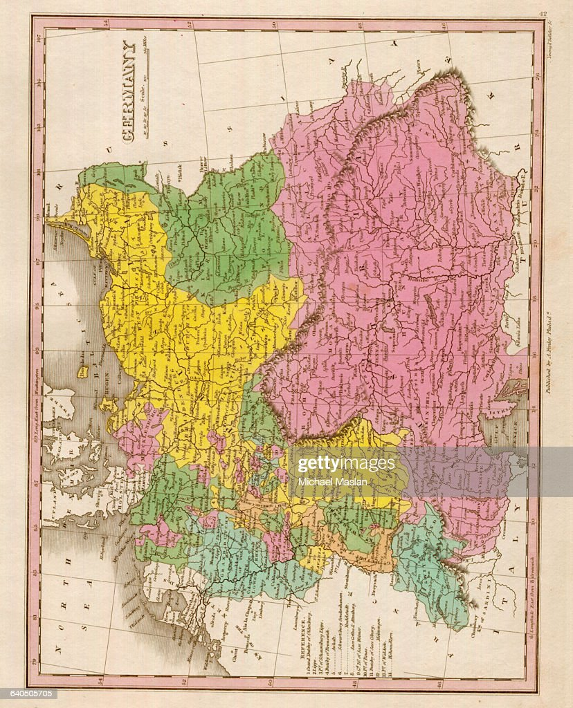 Show Map Of Germany.An 1826 Map Of Greater Germany Shows District Boundaries News