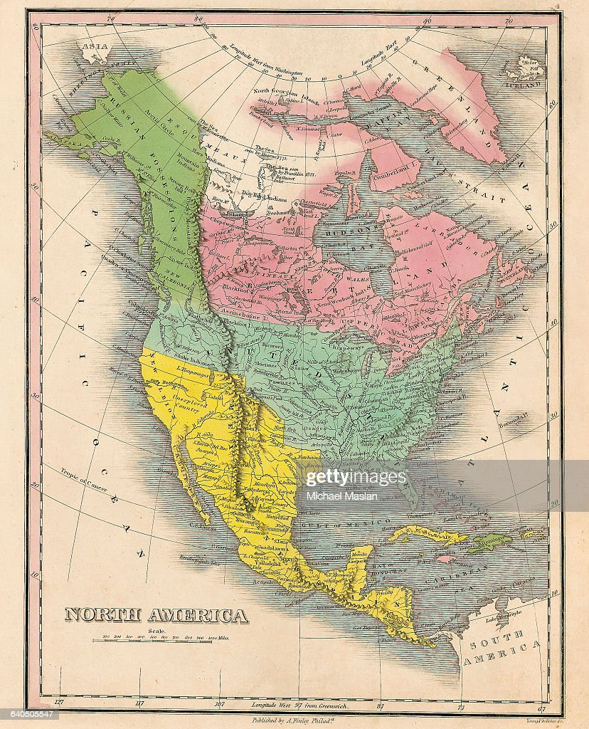 An 1826 map of North America includes the United States ...