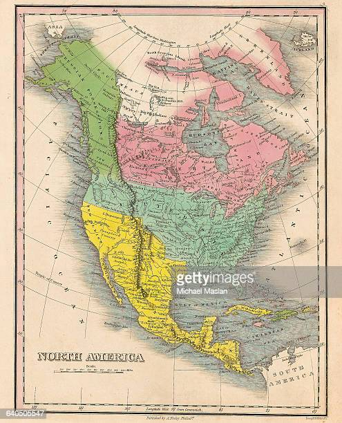 An 1826 map of North America includes the United States Mexico and Rupert's Land Held by the Hudson Bay Company from 16701870 Rupert's Land was sold...