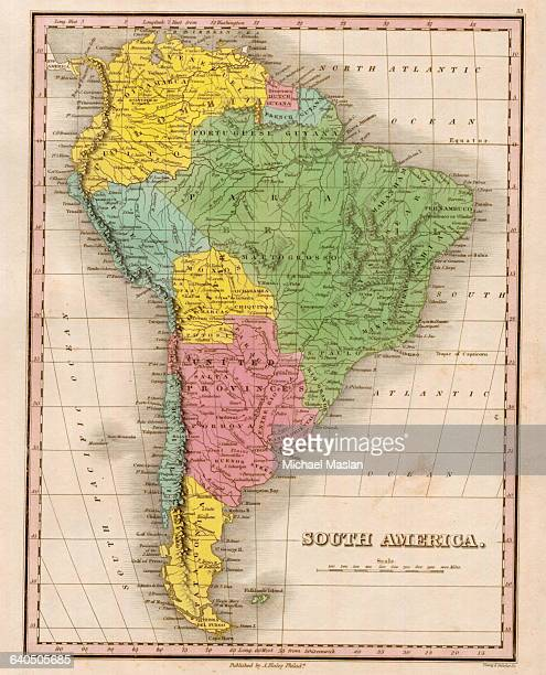 An 1826 map of South America includes entries for Bolivar, the United Provinces, Patagonia, and Portuguese Guyana.