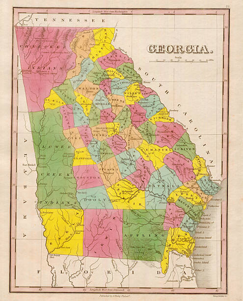 Map of Georgia Pictures | Getty Images