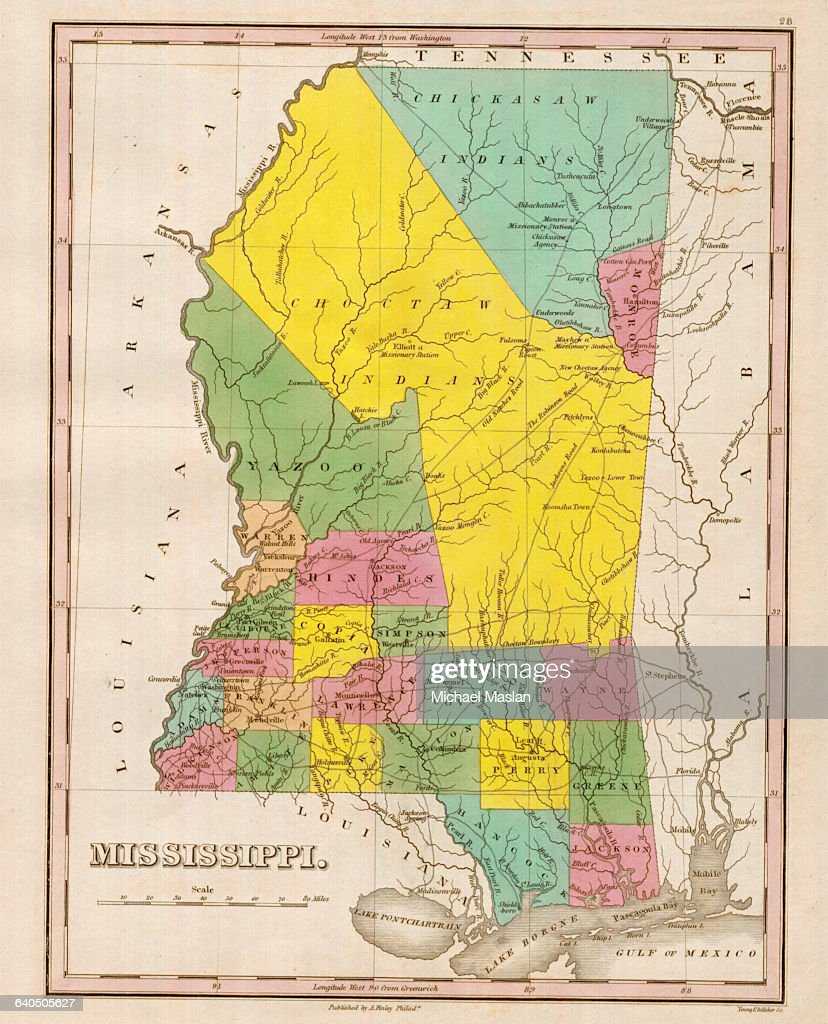 Picture of: An 1826 Map Of The State Of Mississippi Shows County Boundaries News Photo Getty Images