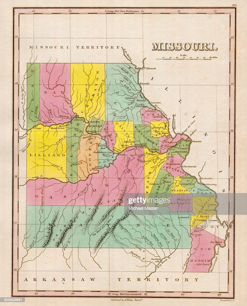 Map of Missouri Pictures Getty Images