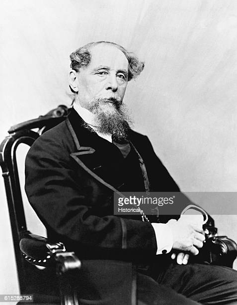 An 1867 portrait of Charles Dickens author of such classics as 'David Copperfield' 'Oliver Twist' and 'A Tale of Two Cities'