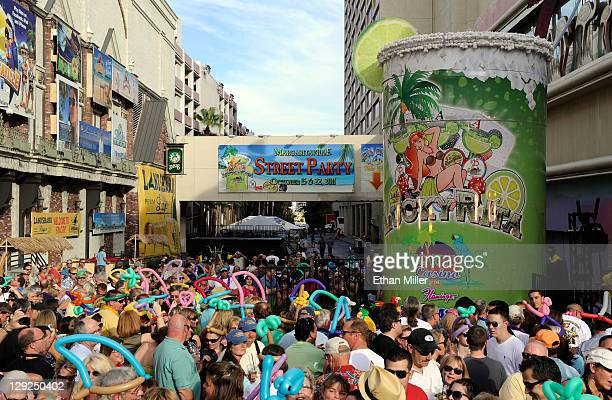An 8500gallon twostory margarita named Lucky Rita is seen during the grand opening celebration for the Margaritaville Casino at Flamingo Las Vegas...