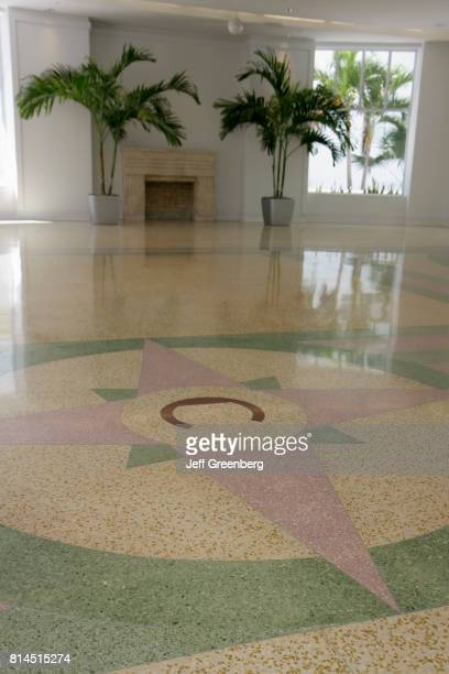 An 8point compass rose on the floor of The Carlyle Hotel