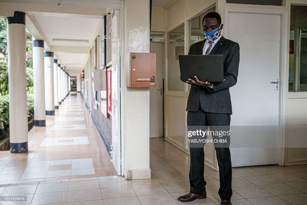 An 8th Grade Teacher Searches For Wifi Signal With His Laptop To Mark News Photo Getty Images