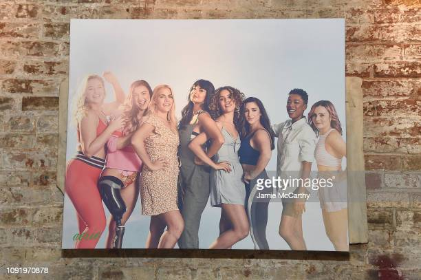 An a view of the Role Models poster as Aerie celebrates #AerieREAL Role Models in NYC on January 31 2019 in New York City