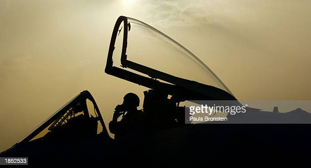 An A10 Warthog pilot taxis on the flight line before takeoff at an airbase March 16 2003 in the Arabian Gulf near the Iraq border From a summit with...