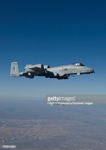 An A-10C Thunderbolt from the 190th Fighter Squadron releases a GBU-12 Laser Guided Bombs during a training mission out of Boise, Idaho.