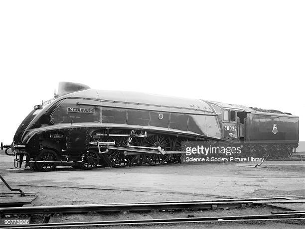 An A4 class 462 locomotive number 60022 Mallard designed by Sir Nigel Gresley and built at Doncaster Works On 3 July 1938 at Stoke Bank between...