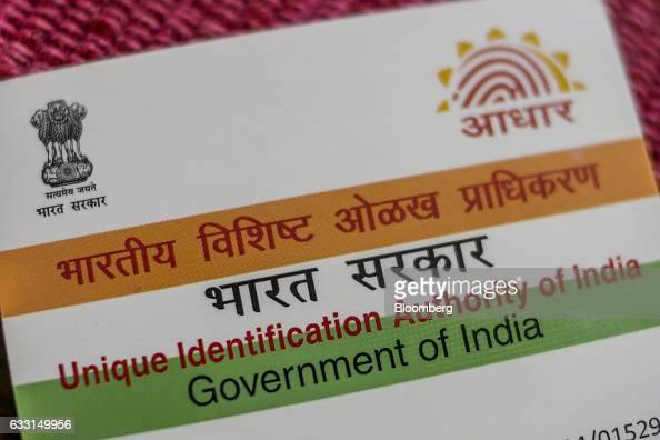 an aadhaar biometric identity card issuedthe unique