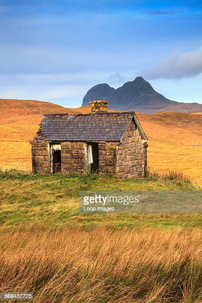 An abandoned barn near Elphin in the Scottish Highlands.