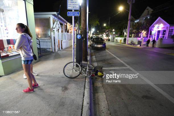 An abandoned bike on Duval Street March 22, 2019 Key West, Florida