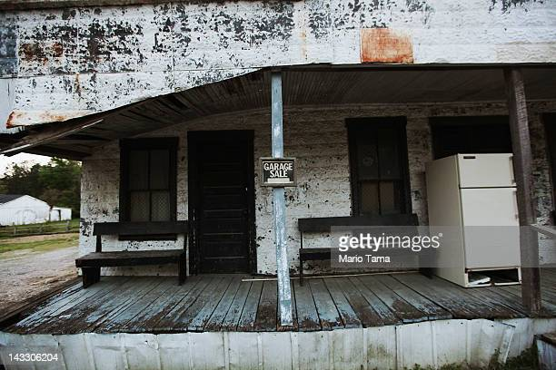 An abandoned building is seen on April 19 2012 in Owsley County Kentucky Daniel Boone once camped in the Appalachian mountain hamlet of Owsley County...
