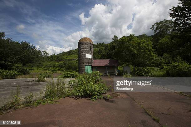 An abandoned building stands at the Coal History Village in Yubari Hokkaido Japan on Thursday July 21 2016 Yubari a former coalmining town in...