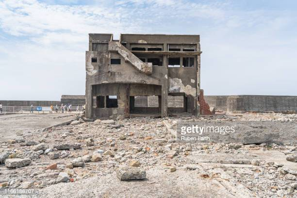 an abandoned building structure - old ruin stock pictures, royalty-free photos & images