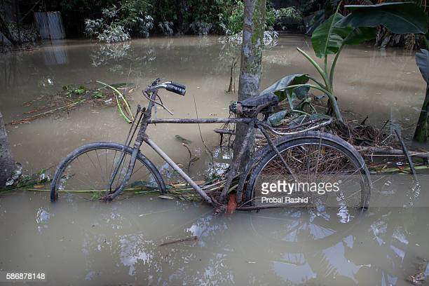 JAMALPUR MYMENSINGH BANGLADESH An abandoned cycle at a flooded area in Jamalpur According to the Bangladesh Disaster Management Bureau around 15...